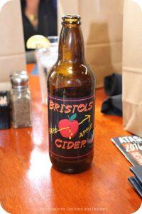Bristol's Cider, made in Atascadero, California