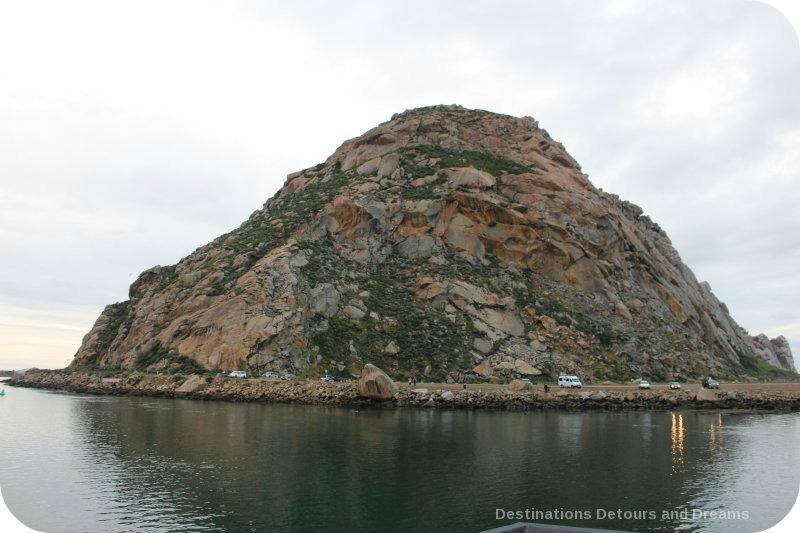 Morro Rock, just off shore at Morro Bay in central California