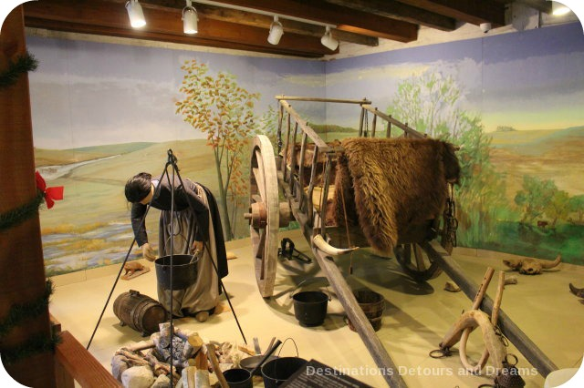 Diorama of a Métis hunting camp at St Boniface Museum
