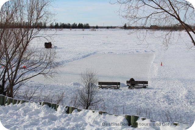 Winnipeg Winter Fun at FortWhyte Alive: skating