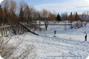 Winnipeg Winter Fun at FortWhyte Alive: tobogganning