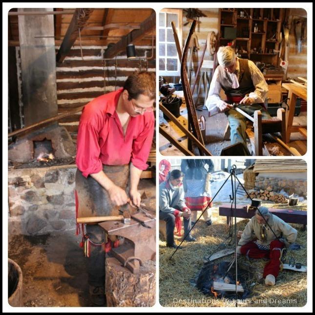 Festival du Voyageur: traditional craftsman