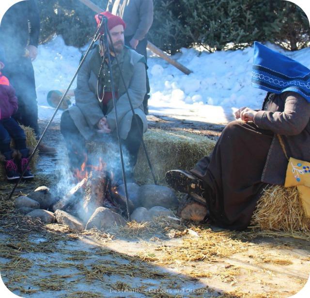 Festival du Voyageur: campfire