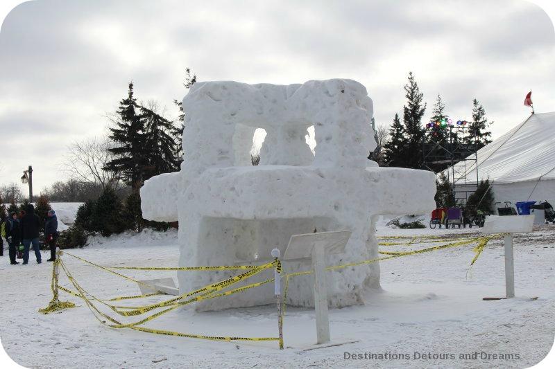 Festival du Voyageur snow sculpture