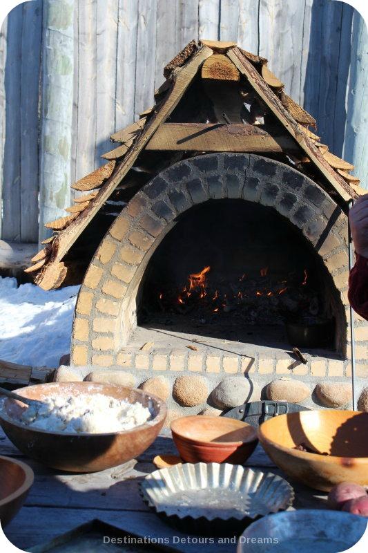 Festival du Voyageur: stone oven at Fort Gibraltar