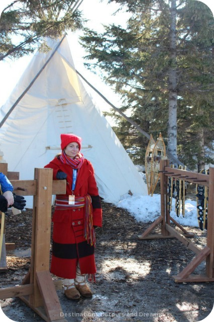 Snowshoeing is one of activities at Festival du Voyageur
