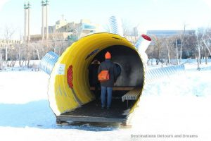 "Ice Skating and Architecture: Warming Huts on the River, Winnipeg - ""Hole Idea"" hut"