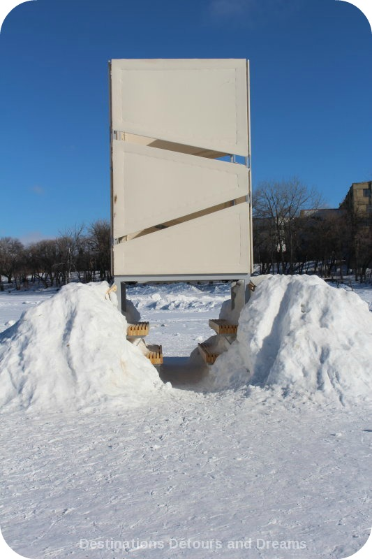 "Ice Skating and Architecture: Warming Huts on the River, Winnipeg - ""Ice Lantern"" hut"