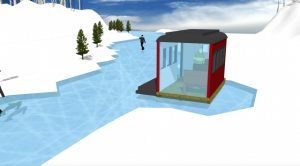 """Ice Skating and Architecture: Warming Huts on the River, Winnipeg - """"On The Rails"""""""