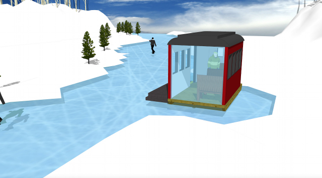 "Ice Skating and Architecture: Warming Huts on the River, Winnipeg - ""On The Rails"""