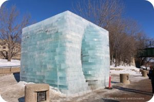 """Ice Skating and Architecture: Warming Huts on the River, Winnipeg - """"Stackhouse"""" hut"""