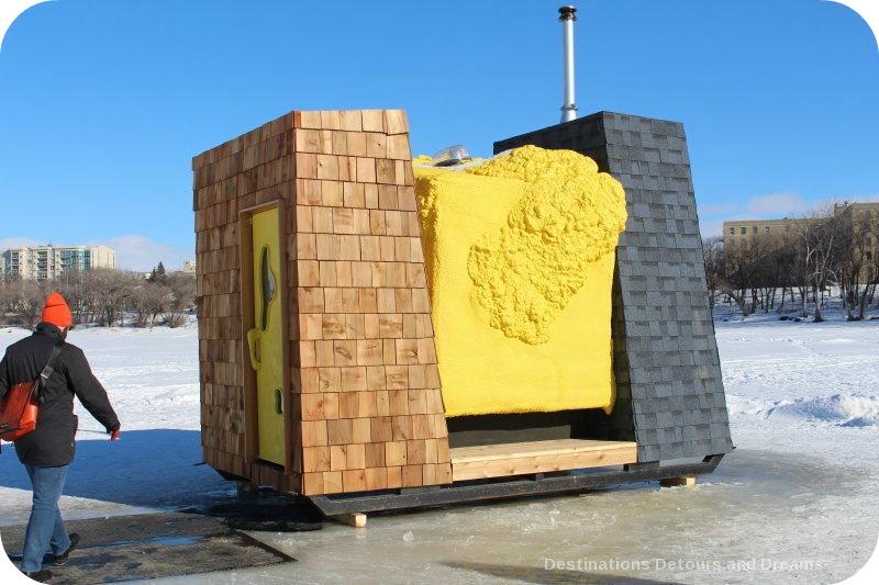 "Ice Skating and Architecture: Warming Huts on the River, Winnipeg- ""WARMHUT"" hut"