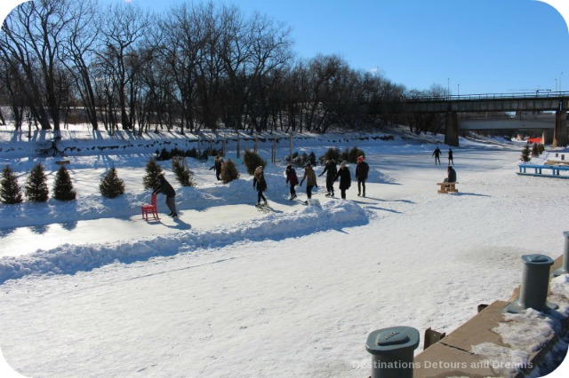 Ice Skating and Architecture: Warming Huts on the River