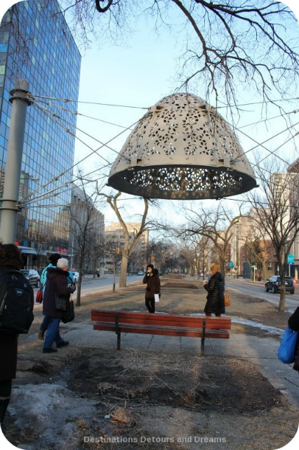 Winnipeg Public Art: Heaven Between by Bill Pechet