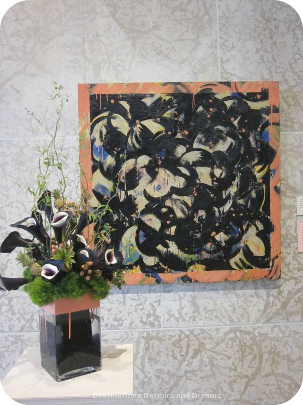 "Art in Bloom: a floral display inspired by art at the Winnipeg Art Gallery: design by OTR Consultants inspired by Tony Scherman's ""Bowl of Fruit"""