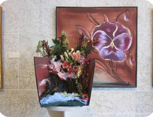 "Art in Bloom: a floral display inspired by art at the Winnipeg Art Gallery: design by Art City inspired by ""Untitled"" by Wando Kopp from her Postcards from Paris series"