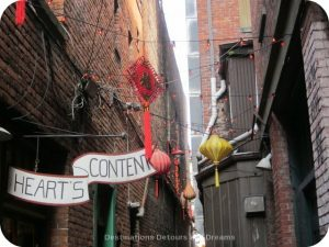 Fan Tan Alley in Canada's oldest Chinatown, Victoria British Columbia