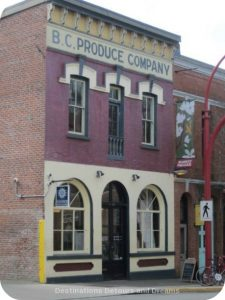 BC Produce Building in Canada's oldest Chinatown, Victoria British Columbia