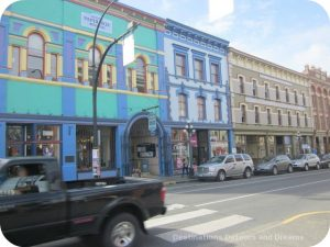 Heritage buildings at the edge of Canada's oldest Chinatown, Victoria British Columbia