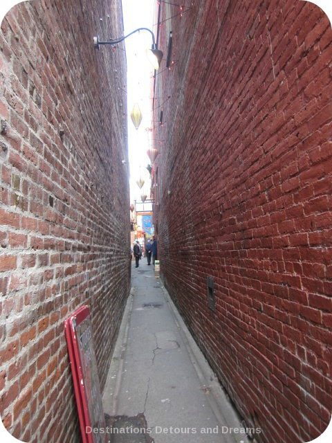 Entrance to Fan Tan Alley in Canada's oldest Chinatown, Victoria British Columbia