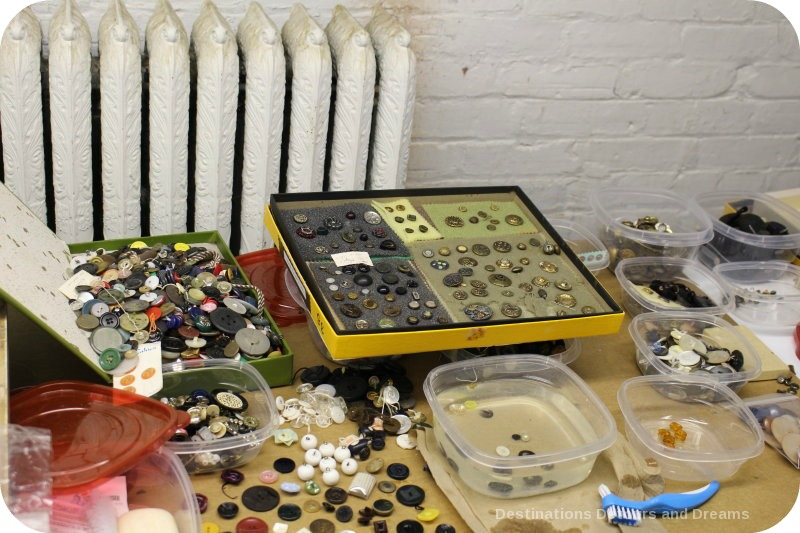 Behind the scenes at the Costume Museum of Canada: buttons