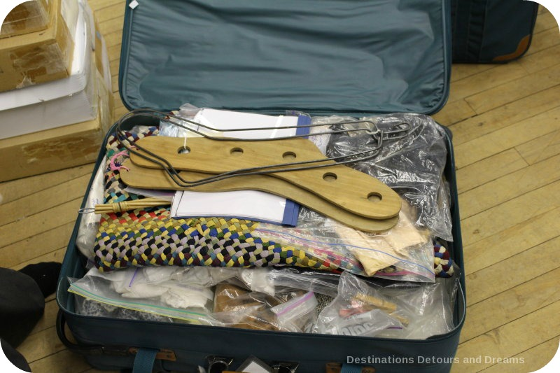 The suitcases contain materials which focus on aspects of textiles and clothing history which are designed for educational levels from primary through secondary levels - Museum in a Suitcase program