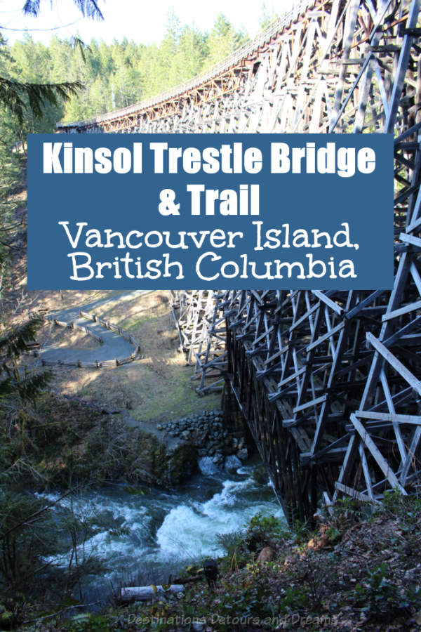 The spectacular historic Kinsol Trestle Bridge on Vancouver Island is part of the Cowichan Valley Trail and a reminder of mining and logging histories. #VancouverIsland #CowichanValley #Canada #trestlebridge
