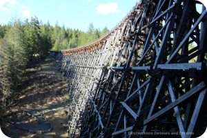 Historic Kinsol Trestle Bridge, part of the Cowichan Valley Trail on Vancouver Island