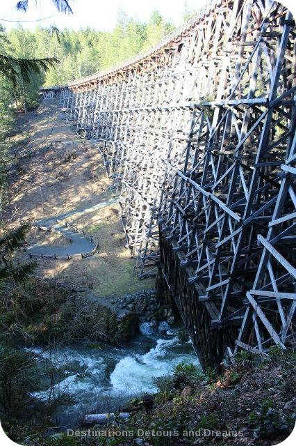 The historic historic Kinsoh Trestle Bridge on Vancouver Island