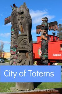 Take a tour of over 40 totem poles in Duncan (City of Totems) on British Columbia's Vancouver Island