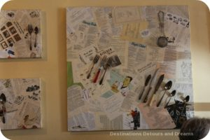 Funky art in a Chemainus bistro