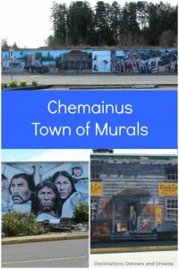 """Chemainus, British Columbia, a charming waterfront town on Vancouver Island is known as the """"Town of Murals"""""""