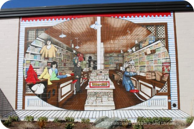 Murals in Chemainus, British Columbia (Muraltown): The Company Store by Dan Sawatzky