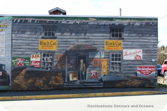 Murals in Chemainus, British Columbia (Muraltown): The Hong Hing Waterfront Store by Paul Marcano
