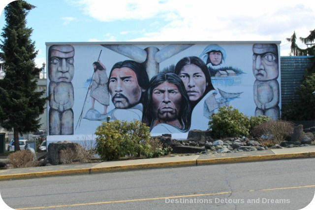 Murals in Chemainus, British Columbia (Muraltown): Native Heritage by Paul Ygartua