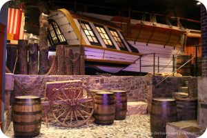 The story of British Columbia at the Royal BC Museum - replica of the Discovery ship