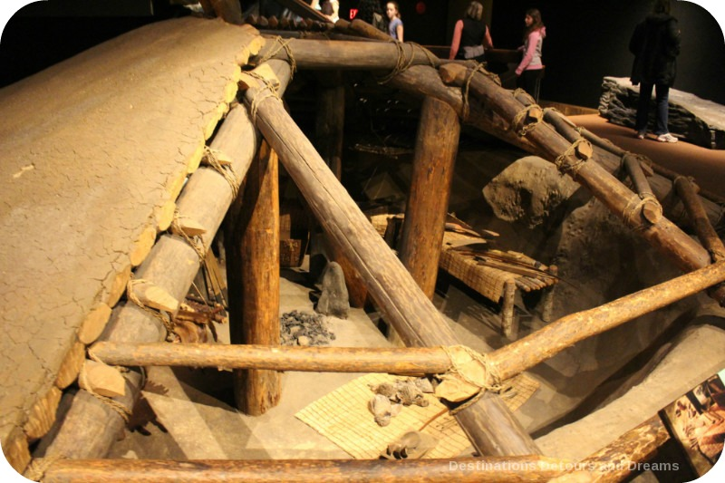 The story of British Columbia at the Royal BC Museum - kekuli or pithouse