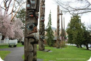 The story of British Columbia at the Royal BC Museum - Thunderbird Park totems