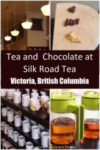 Tea and chocolate tasting at Silk Road Tea in Victoria, British Columbia. #BritishColumbia #Victoria #tea #chocolate #Canada