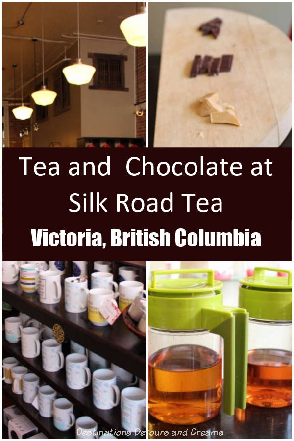 Tea and chocolate tasting at Silk Road Tea in Victoria, British Columbia. #BritishColumbia #Victoria #tea #chocolate #Canada