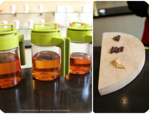 Tea and Chocolate tasting experience at Sild Road Tea in Victoria, British Columbia