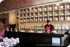 Silk Road Tea tasting bar, Victoria, British Columbia