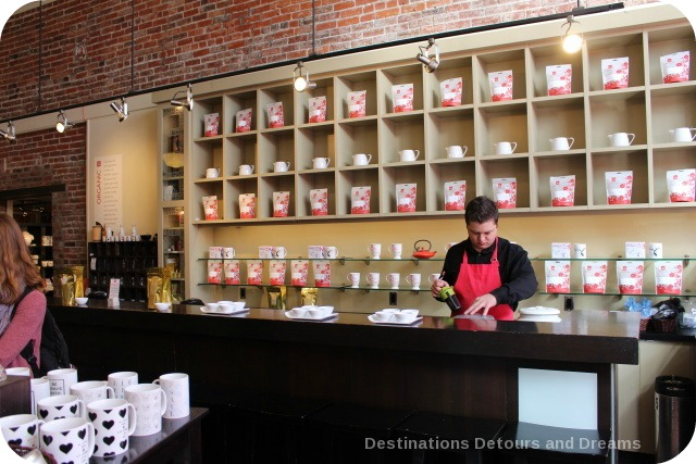 Silk Road Tea tasting bar, Victoria, British Columbia