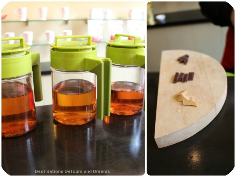 Tea and Chocolate tasting experience at Silk Road Tea in Victoria, British Columbia