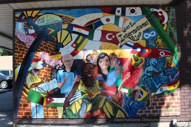 One of many murals depicting the history and stories of Winnipeg's West End