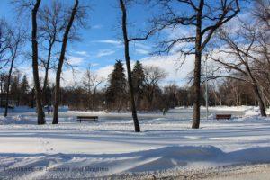 Sunny Winnipeg winter day