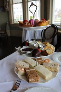 Afternoon tea at the Gatsby Mansion in Victoria, British Columbia