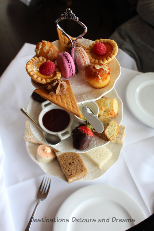 Afternoon tea at the Pendray Tea House in Victoria, British Columbia
