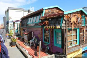 Floating home at Fisherman's Wharf in Victoria, British Columbia