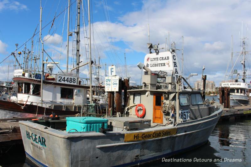 Fishing boats at Fisherman's Wharf in Victoria, British Columbia